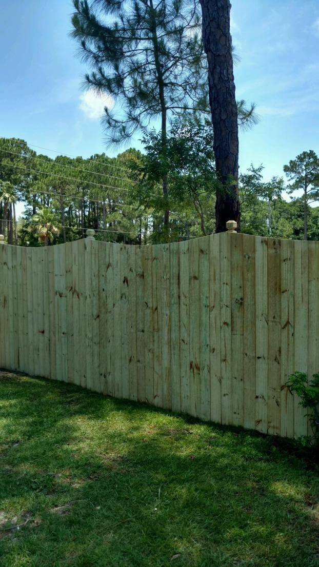 Custom Wood Privacy Fence in Destin