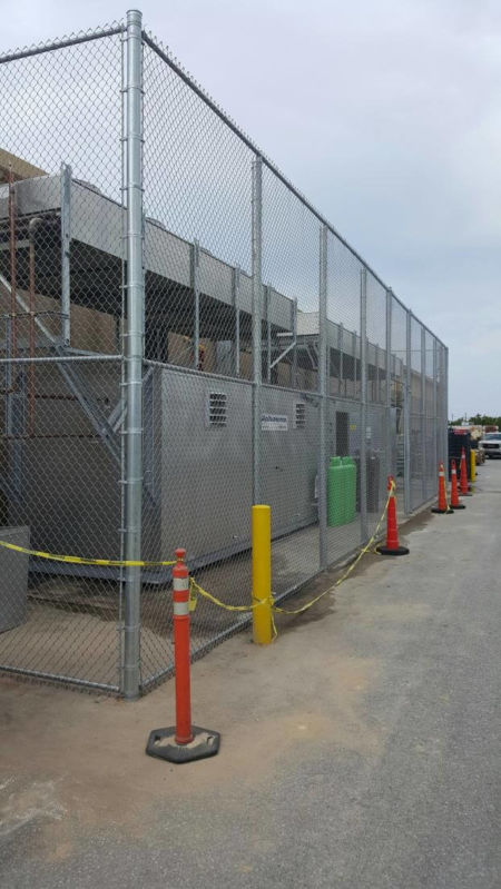 16 FT Tall Chain Link for General Contractor working on Walmart in Destin FL