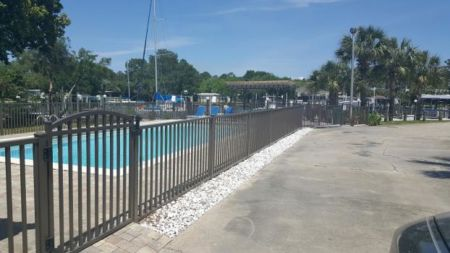 Aluminum Fence Installed to Meet Pool Code