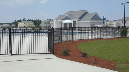 Aluminum Fence Installed For Corvias Military Housing at Eglin AFB