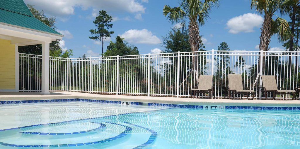 white aluminum pool fence - Pool Fence Installation
